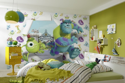Disney Monster's University wall mural